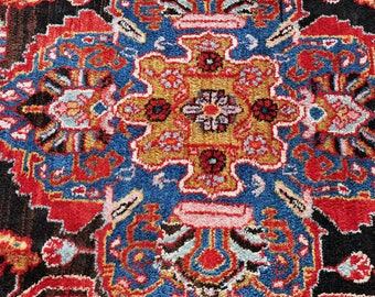 Surreal Persian Medallion Rug with Human Figures -- 10 ft. by 5 ft. 7 in.