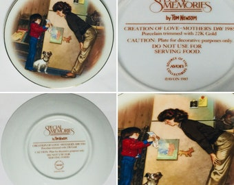 Special Memories Edition Avon Collectors Plate Mother's Day 1985