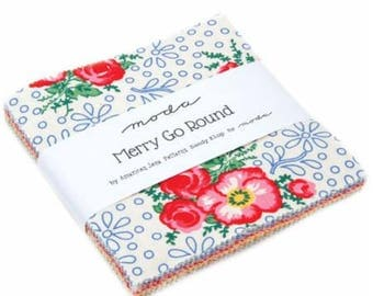 Merry Go Round Charm Pack by Sandy Klop of American Jane for Moda