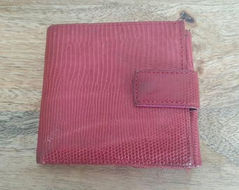 Tusk Red Leather Trifold Wallet