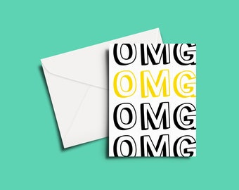 OMG Greeting Card