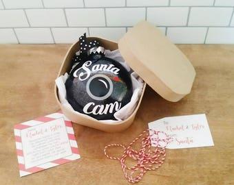 Personalized Santa Cam // Santa Cam Ornament // Disc Ornament // Plastic Ornament // Santa Ornament // Christmas Keepsake // Note from Santa