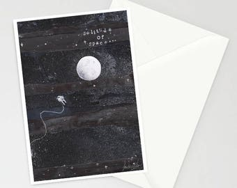 Solitude of Space A6 Greetings Card