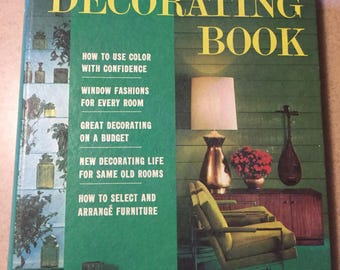 Vintage Better Homes and Gardens Decorating Book 1960's Home Decor Mid Century Mod Home Decor Retro Books Den MCM Funky 1968 Living Room