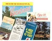 1960's Minnesota + Wisconsin travel brochures | maps • vacation guides • souvenir travel paper lot