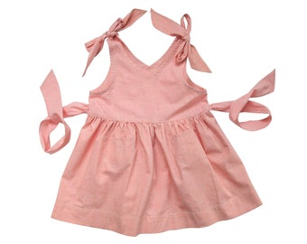 NOS cute pink summer dress vintage 50s size 4 years deadstock