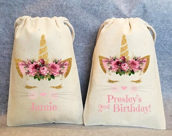 "11- Caticorn Party, Caticorn Birthday, Caticorn party favors, Caticorn bags, Caticorn favor bags, Caticorn party favor bags,  5""x8"""