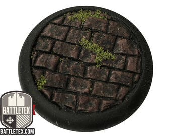 Paved Floor Detailed Wargaming Bases - Round Bases - 10 x 28mm Warhammer war gaming - By Battletex