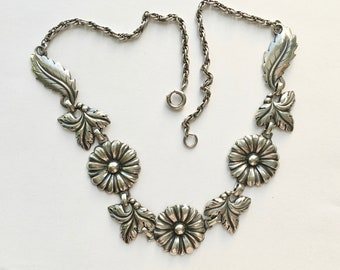 fabulous sterling flower necklace