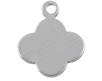 Flower pendant 11 mm sequin steel with or without engraving