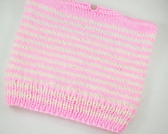 Christmasinjuly Stripes white pink pussy hats hole hair cat hats messy bun hat ponytail hand knit Winter Hats pink pussy pussy hat knit pink