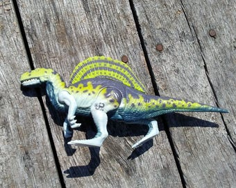 "Vintage Jurassic Park's The Lost World Series 1 SPINOSAURUS JP 39 ""Slice"" WORKS He Roars When Arm Is Pushed Down Collectible Dinosaur Toy"