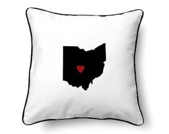 Ohio Pillow - Ohio Gift - Ohio Map - OH State Map