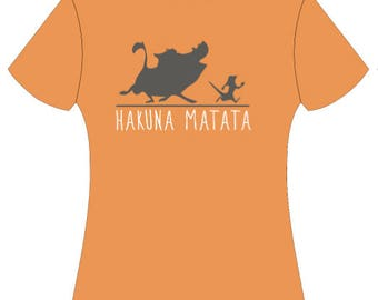 Youth Animal Kingdom Hakuna Matata Shirt-Pumba & Timone