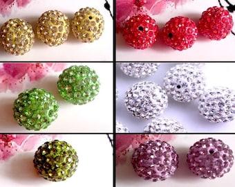 1 bead disco 14mm Crystal for Shamballa, many colors