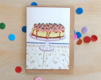 Greeting Card - Strawberry Cheesecake