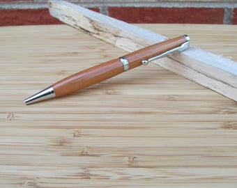 Handcrafted Wild Black Cherry Chrome Twist Pen