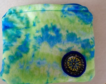 Tie Dye Felt Zipper Bag (B4)