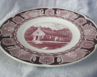Vintage Plate Wee Kirk O The Heather Church by Wedgwood 1954