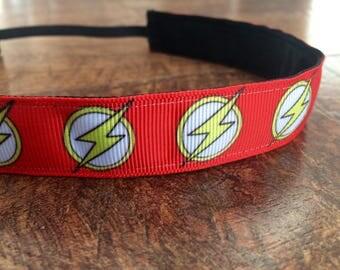 The flash headband. Super hero accessories, superhero half marathon, running headband, superhero headband, hair accessories, girls gift