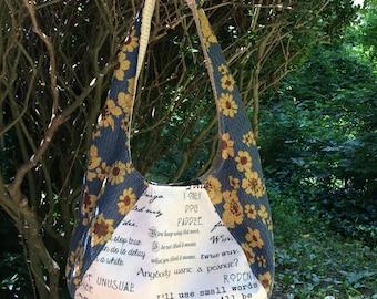 Reversible Inconceivably Retro hobo bag