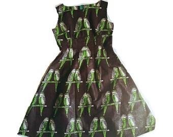 Flash Sale Budgie Love Swing Dress
