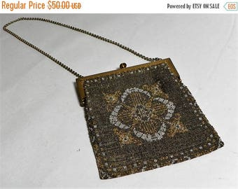 ON SALE Antique 1920s Flapper Beaded Purse