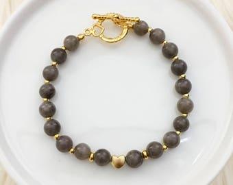 Everyday Heart Bracelet - Gold Hardware
