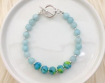 LIMITED EDITION - Beaded Bracelet in Peacock - Spring Collection - Mikaylove