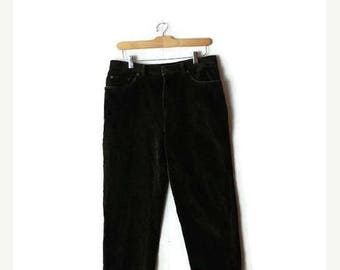 ON SALE Ralph Lauren Olive Green Corduroy Pants from 90's /W30*