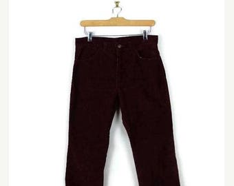 ON SALE Vintage Gap Burgundy Corduroy Straight Pants/W2*