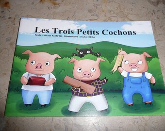"""Autographed book: """"The three little pigs"""""""