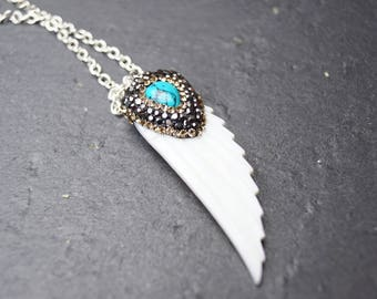 Necklace Wing white