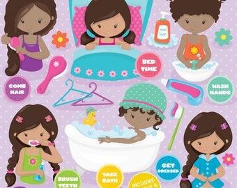 80% OFF SALE Hygiene clipart commercial use, vector graphics, digital clip art, digital images, apple orchard - CL805