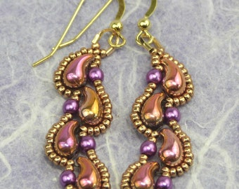 Zoliduo Dew Drop Earring Tutorial - A Beadweaving Pattern