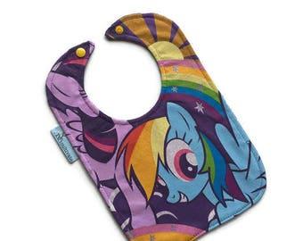 My Little Pony Bib • Purple Baby Bib • Baby Shower Gift • Tee Shirt Bib