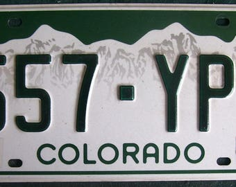 COLORADO 557YPD American License Number Plate