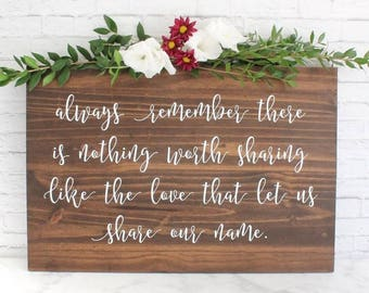 Wedding Sign, Rustic Wedding Sign, Custom Wedding Sign, Wedding Gift, Wedding Signage, Custom Quote Wedding Gift