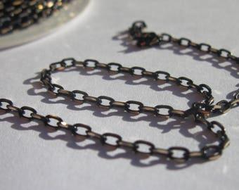 1 m chain link welded Brown golden metal 2 x 3, 5 mm (18)