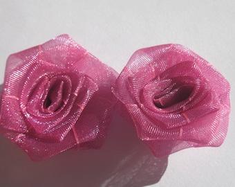 big color plum-pink (A214 organza bows
