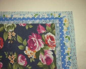 5 different patterns (8) patchwork fabric