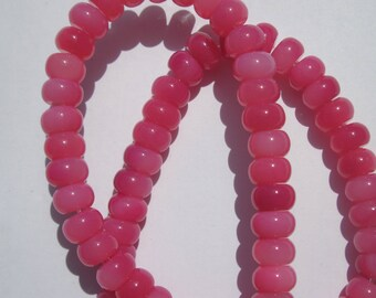 8 round beads flattened mineral agate colorful 5 x 8 mm approximately (2-26