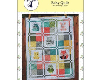 """Pattern """"Woodland Critters Baby Quilt and Nursery Decor"""" by Avery Lane Paper Pattern Instructions"""