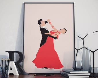 Waltz Dance. Poster. High Quality Print.