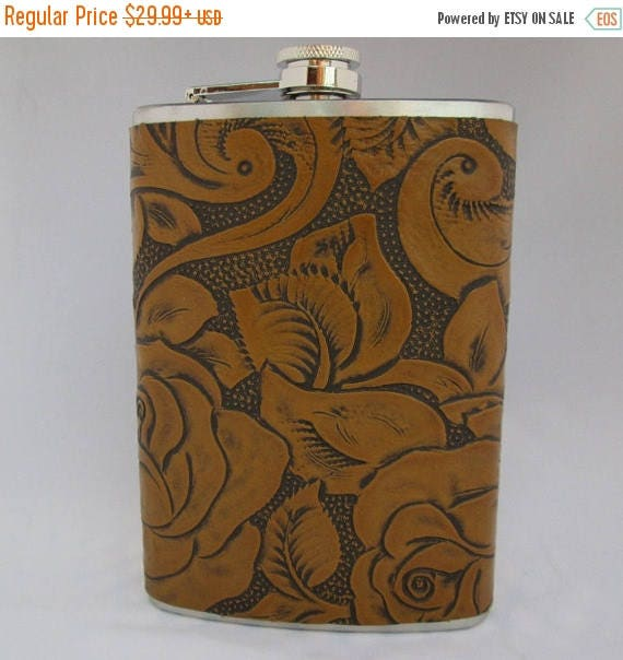 Every Day Collection Flask in Mustard Yellow Floral Pattern