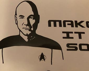 Instant pot decal, Star Trek instant pot, Jean Luc Picard decal, Captain Picard decal, Make it so instant pot decal, Star Trek vinyl decal