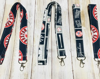 Baseball Lanyard - Keychain - MLB - Red Sox - Yankees