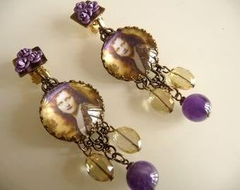 The crowned woman earrings