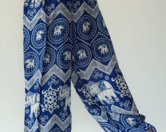 KD0032 Rope and Elastic Waist KID pants - bohemian clothing KID yoga pants harem pants hippie trousers