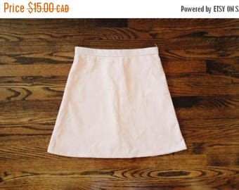 HELLO SUMMER SALE Vintage Simple A Line Peach Skirt